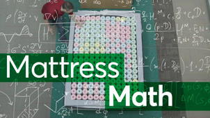 a close up of a blackboard: Mattress Math: Configuring One Brand Many Ways