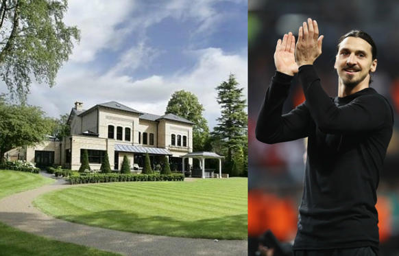 Bild 1 av 29: When he returns to Manchester United, Swedish player Zlatan Ibrahimović will no longer live in this mansion in Cheshire (England). The house, which has 4 floors, 6 en suite bedrooms, a games room, a gym and a swimming pool, is up for sale for the modest sum of 5 million pounds.Check out the luxurious mansion where Ibrahimović lived last year!