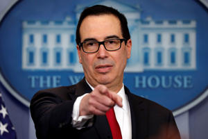 U.S. Treasury Secretary Steven Mnuchin attends the daily briefing at the White House in Washington, D.C., U.S., January 11, 2018.