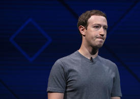 Facebook CEO Mark Zuckerberg delivers the keynote address at Facebook's F8 Developer Conference on April 18, 2017 at McEnery Convention Center in San Jose, California.
