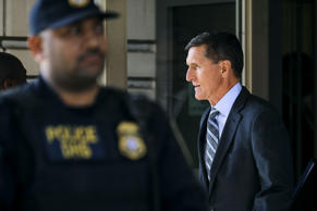 Michael Flynn, former national security advisor to President Donald Trump, leaves following his plea hearing at the Prettyman Federal Courthouse December 1, 2017 in Washington, DC. Special Counsel Robert Mueller charged Flynn with one count of making a false statement to the FBI.