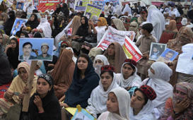 Thousands protest against human rights violations in Pak