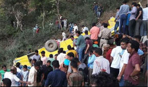 School bus falls into gorge in HP, 26 children dead