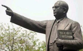 Ambedkar's statue returns in saffron