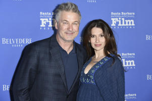 "Alec Baldwin, left, and Hilaria Baldwin attend the 2018 Santa Barbara International Film Festival opening night fIlm premiere ""The Public"" on Wednesday, Jan. 31, 2018, in Santa Barbara, Calif. (Photo by Richard Shotwell/Invision/AP)"