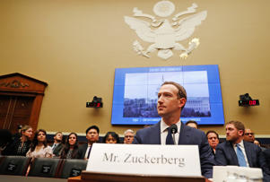 Facebook CEO Mark Zuckerberg testifies before a House Energy and Commerce Committee hearing regarding the company's use and protection of user data on Capitol Hill in Washington, U.S., April 11, 2018.