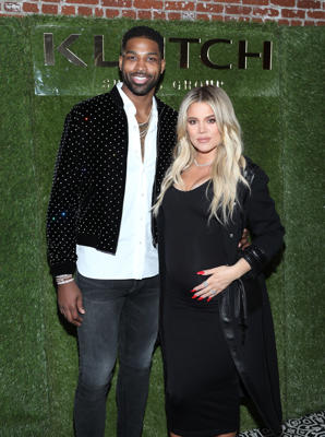 Tristan Thompson and Khloe Kardashian attend the Klutch Sports Group 'More Than A Game' Dinner Presented by Remy Martin at Beauty & Essex on February 17, 2018 in Los Angeles, California.  (Photo by Jerritt Clark/Getty Images for Klutch Sports Group)