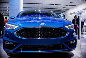 DETROIT, USA - JANUARY 15: Ford Focus is on display during North American International Auto Show at Cobo Center in Detroit, MI, United States on January 15, 2018.