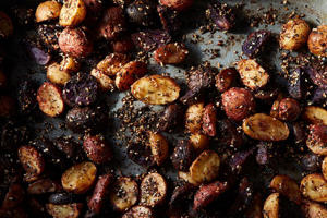 a close up of food: A Medley of Roasted Potatoes with Homemade Za'atar & Aleppo Pepper
