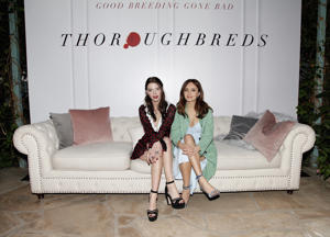 Anya Taylor-Joy and Olivia Cooke attend the premiere of 'Thoroughbreds after party at Sunset Marquis Hotel on February 28, 2018 in West Hollywood, California.
