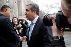 U.S. President Donald Trump's personal lawyer Michael Cohen arrives at federal court in the Manhattan borough of New York City, New York, U.S., April 16, 2018.