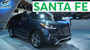 a car parked in a parking lot: 2018 New York Auto Show: 2019 Hyundai Santa Fe
