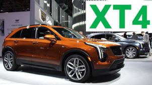 a car parked on the side of a building: 2018 New York Auto Show: 2019 Cadillac XT4