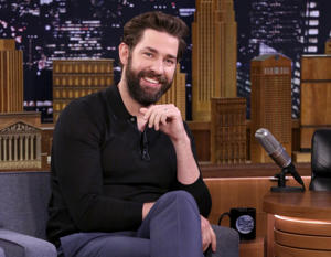 THE TONIGHT SHOW STARRING JIMMY FALLON -- Episode 0842 -- Pictured: Actor John Krasinski during an interview on April 3, 2018