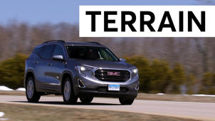 a car parked on the side of a road: 2018 GMC Terrain Road Test