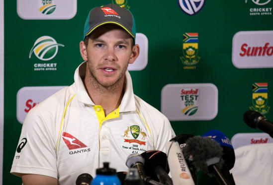 Slide 1 of 13: Australian Captain Tim Paine gives a press conference at the end of the third Test cricket match between South Africa and Australia won by South Africa at Newlands cricket ground on March 25, 2018 in Cape Town, South Africa. / AFP PHOTO / GIANLUIGI GUERCIA        (Photo credit should read GIANLUIGI GUERCIA/AFP/Getty Images)