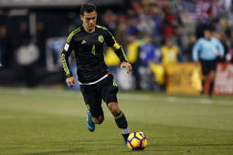 Mexico's Rafa Marquez plays against the United States during a World Cup qualifying soccer match Friday, Nov. 11, 2016, in Columbus, Ohio. (AP Photo/Jay LaPrete)