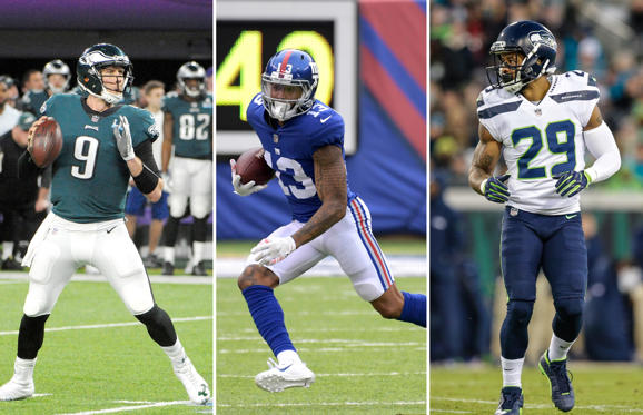 Slide 1 of 13: Nick Foles, Odell Beckham and Earl Thomas