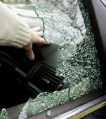 A broken car window.   (Photo by Tim Ockenden - PA Images/PA Images via Getty Images)