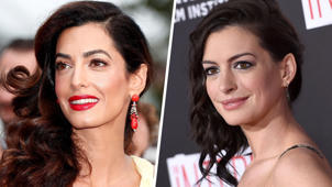 Amal Clooney, Anne Hathaway posing for the camera: Celebrity look-alikes: Amal Clooney and Anne Hathaway, and more