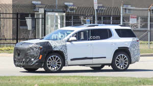 GMC Acadia Refresh Spy Shots