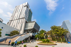 HONG KONG, CHINA - APR 15, 2014: City University of Hong Kong is a public research university located in Tat Chee Avenue, Kowloon Tong which was originally founded as City Polytechnic of Hong Kong.