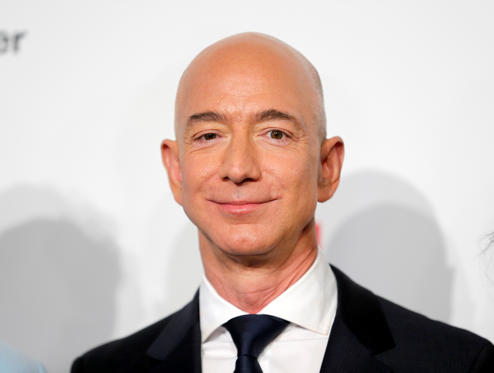 Slide 1 of 20: BERLIN, GERMANY - APRIL 24: Jeff Bezos attends the Axel Springer Award 2018 on April 24, 2018 in Berlin, Germany. Under the motto 'An Evening for' Jeff Bezos receives the Axel Springer Award 2018. (Photo by Franziska Krug/Getty Images)