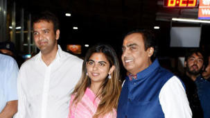 Isha Ambani dances with dad Mukesh Ambani