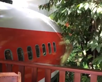 Airplane transformed into a hotel suite