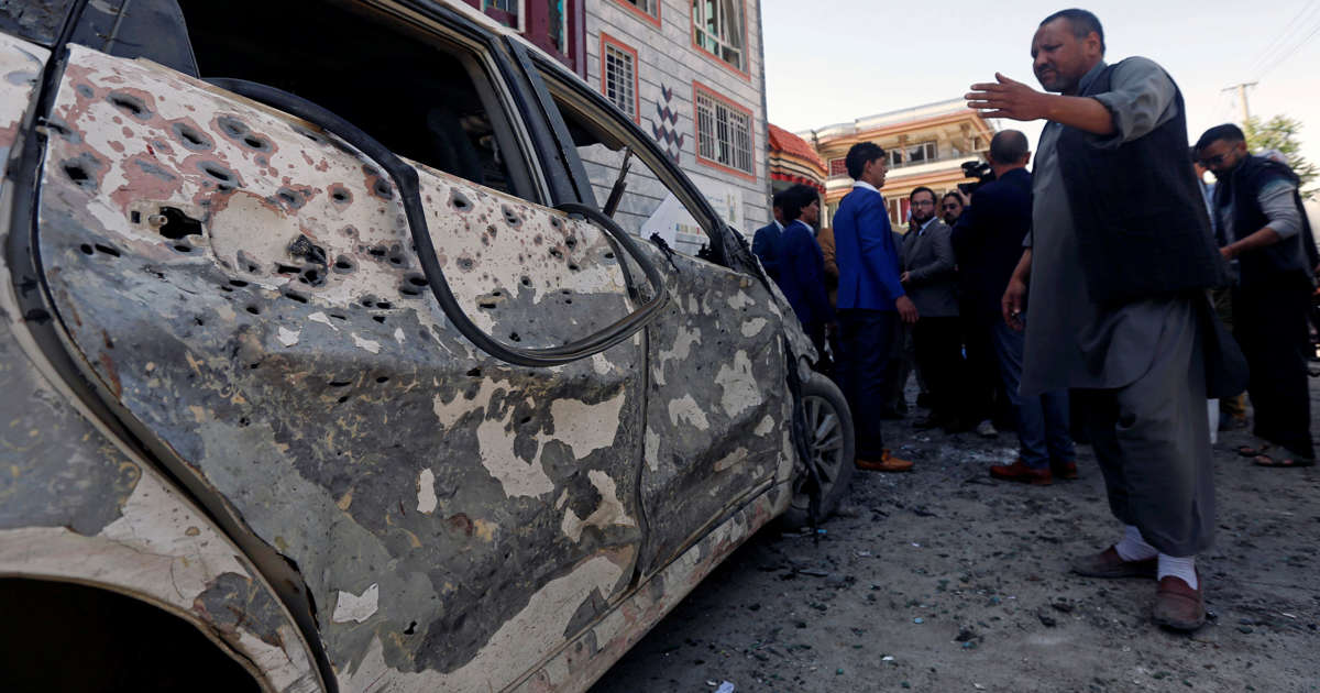 Suicide bomber strikes in Afghan capital, 12 killed