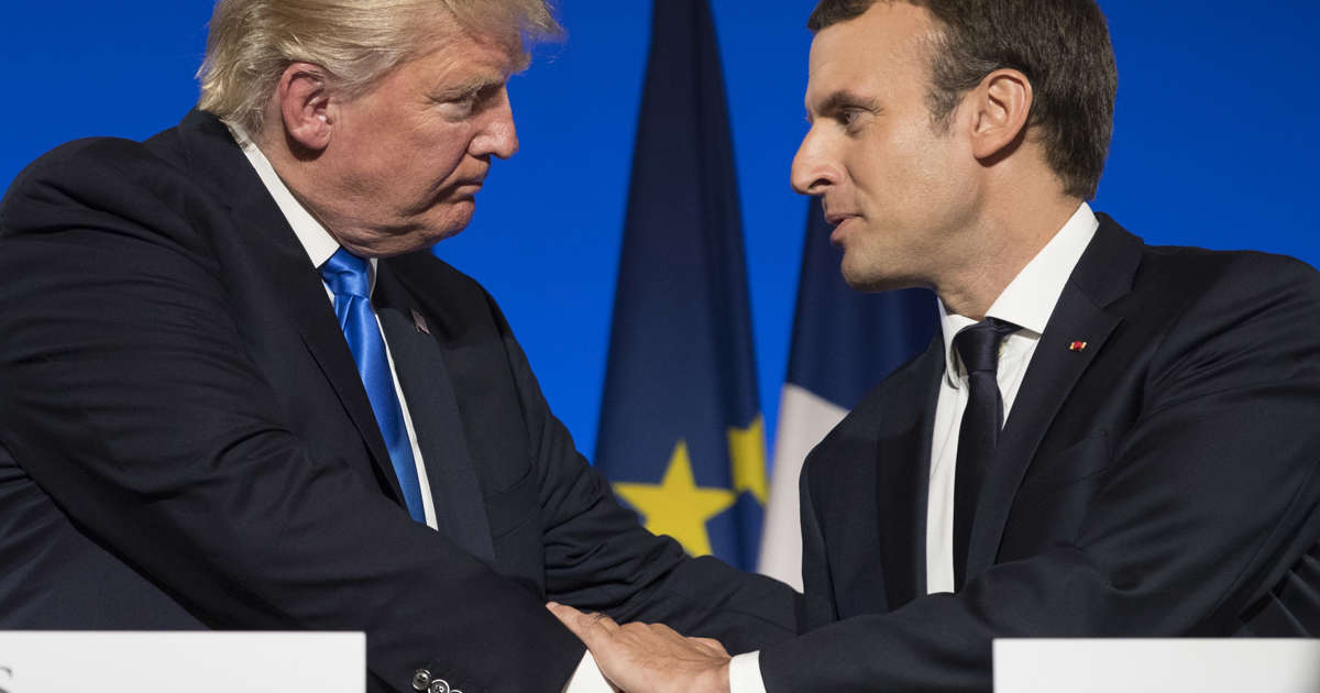 As Macron arrives to meet Trump, fate of Iran nuclear deal is front and center