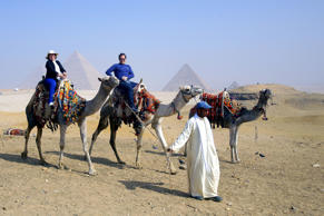Tourists visit the Pyramids of Giza, Egypt - provided by Shutterstock