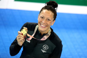 Gold medalist Sophie Pascoe of New Zealand.