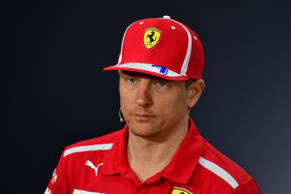 Ferrari's Finnish driver Kimi Raikkonen looks on during the drivers press conference on April 5, 2018, ahead of the Bahrain Formula One Grand Prix at the Bahrain International Circuit in Sakhir.
