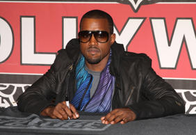 HOLLYWOOD - SEPTEMBER 13:  Kanye West Signs copies of his CD 'Graduation' at the Virgin Mega Store on Sept 13,2007 in Hollywood, California.  (Photo by Jason Merritt/FilmMagic)