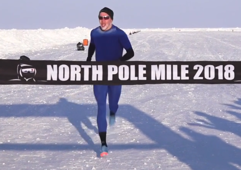 Irishman runs fastest-ever mile at the North Pole