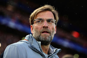 LIVERPOOL, ENGLAND - APRIL 24: Manager of Liverpool, Jurgen Klopp looks on before the UEFA Champions League Semi Final First Leg match between Liverpool and A.S. Roma at Anfield on April 24, 2018 in Liverpool, United Kingdom.  (Photo by Chris Brunskill Ltd/Getty Images)