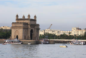 MUMBAI, INDIA - NOVEMBER 12, 2010: Gateway of India in Mumbai. (Photo by Anshuman Poyrekar/Hindustan Times via Getty Images)