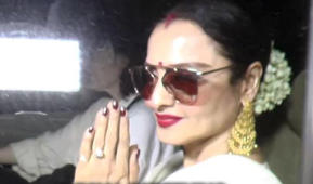 Rekha at the screening of Big B's 102 Not Out