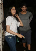 Janhvi Kapoor, Ishaan Khattar at Raazi screening