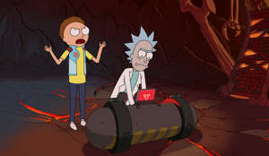 (L to R) Morty and Rick go on another crazy adventure together.