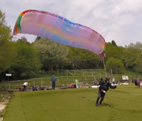 British paraglider has lucky escape after failing to take off