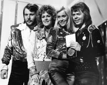 Swedish pop group Abba with the first prize they won with their song Waterloo at the Eurovision Song Contest in Brighton