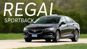 a car parked on the side of a road: 2018 Buick Regal Sportback Road Test