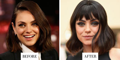 When: May 21, 2018What:  Choppy BangsWhy we love it: Mila Kunis debuted a set of choppy bangs at the Billboard Music Awards last night. We love how the fringe accentuates her big, hazel eyes and adds new life to her chic lob haircut.