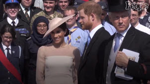 a group of people posing for a photo: WATCH: The Duke And Duchess Of Sussex Make Their Debut 3 Days After Wedding