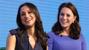a woman smiling for the camera: Why Meghan Markle Has to Curtsy to Kate Middleton
