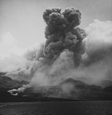 Slide 1 of 65: Mount Pelee Eruption ST. PIERRE, MARTINIQUE - MAY 8: Mount Pelee volcano erupts and kills 30,000 people on May 8, 1902 at St. Pierre, Martinique. (Photo by Archive Farms/Getty Images)