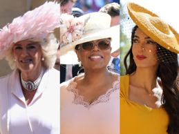 A royal wedding is exciting for several reasons. As bishop Michael Curry pointed out during his sermon, it's essentially a giant celebration of love and a new member of the royal family. But one aspect of the wedding stands tall above them all: the hats. It has become customary for women to wear a hat or fascinator to most official royal events, and the hats seen at Prince Harry and Meghan Markle's wedding definitely did not disappoint. While nobody took as much of a risk as Princess Beatrice and Princess Eugenie did at Kate Middleton's wedding, there were still some eye-catching hats and fascinators to be seen. From the queen's vivid neon green hat to Oprah's oversized design, here are the wildest hats from the royal wedding.