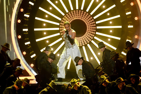Slide 1 of 32: LAS VEGAS, NV - MAY 20:  Recording artist Jennifer Lopez performs onstage during the 2018 Billboard Music Awards at MGM Grand Garden Arena on May 20, 2018 in Las Vegas, Nevada.  (Photo by Kevin Winter/Getty Images)